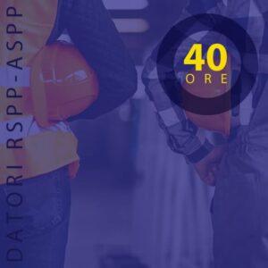 Aggiornamento coordinatore sicurezza 40
