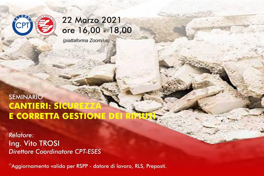 Seminario CPT Salerno Sicurezza Rifiuti